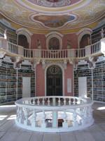 Foto Blick in die Klosterbibliothek St. Mang, Klick zum Vergrößern
