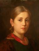 Franz von Defregger, Mädchenporträt, Klick zum Vergrößern
